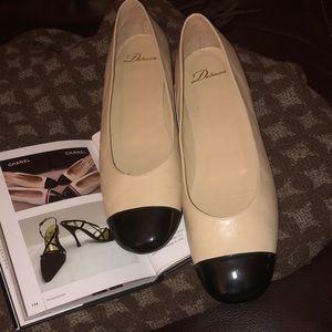 Delman cap toe ballet flats 11m